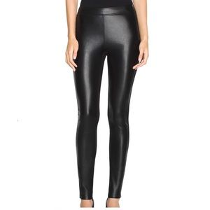 WHBM Faux Leather Panel Skinny Pant